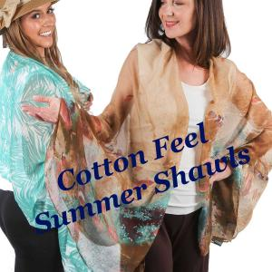 Wholesale Cotton Feel<br>Shawls<br>