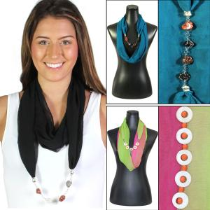 Wholesale Jewelry Infinity<br>Silky Dress Scarves