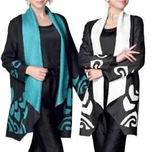 Wholesale Art Crush Cardigan<br>Modern Abstract Design