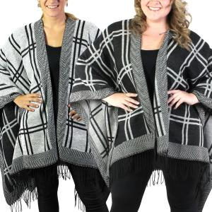 Ruana Capes<br>Reversible Block Design<br>313