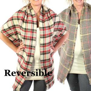 Shawls<br>Reversible Plaid to Check<br>14092