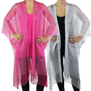 Wholesale Ruana Capes<br>Metallic<br>6601
