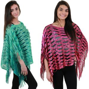 Wholesale Poncho<br>Sparkle Mesh<br>6607