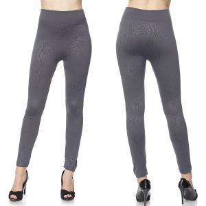 Fleece Lined Leggings<br>Ankle Length<br>Embossed