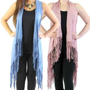 Wholesale Vests<br>Solid Rayon w/ Fringe<br>SN131