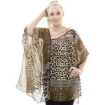Chiffon Poncho with Buttons - Animal Print JP558