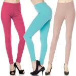 Brushed Fiber Leggings - Ankle Length Solids SOL0S