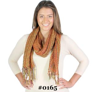 Oblong Scarves<br>Woven Multi Color<br>0165
