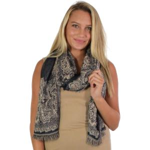 Oblong Scarves<br>Jacquard Flower Pattern<br>8873