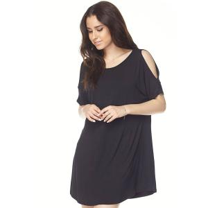 Tunics<br>Cold Shoulder Rounded Hem<br>1407