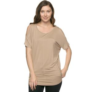 Tops<br>Dolman Sleeve Cold Shoulder<br>1373<br><b><font color = red>NOW SOLD INDIVIDUALLY</b></font>
