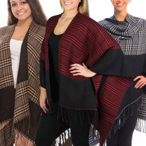 Ruana Capes<br>Reversible Plaid<br>JP267