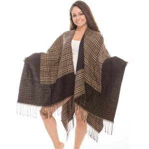 Ruana Cape<br>Reversible Plaid<br>JP267