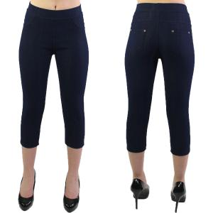 Denim Leggings<br>Capri Length<br>w/ Back Pockets<br>J04