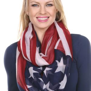 Infinity Scarves<br>American Flag Designs
