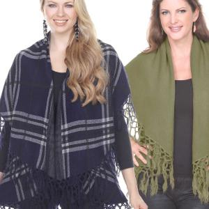Cape Vests<br>Tasseled<br>8142, PN280, PN271, & 129