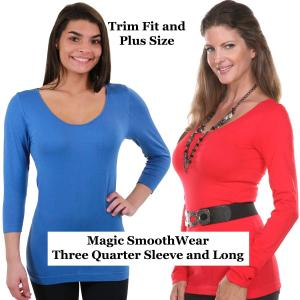 Magic SmoothWear<br>Three Quarter & Long Sleeve<br>Trim Fit and Plus Size