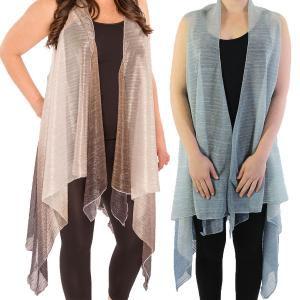 Vests<br>Metallic Ombre Pleated<br>8911
