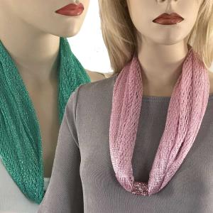 Wholesale Metallic Scarf <br>with Magnetic Clasp
