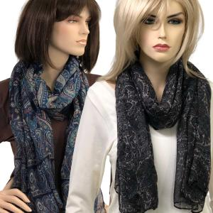 Oblong Scarves<br>Paisley Print<br>9171 & 9172