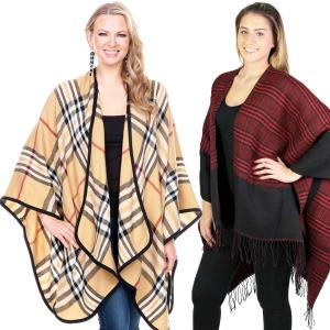 Winter Ruana Capes<br>Plaids, Houndstooth,<br>& Tweeds