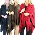 Fall/Winter Ruana Capes - Cashmere Feel Solids