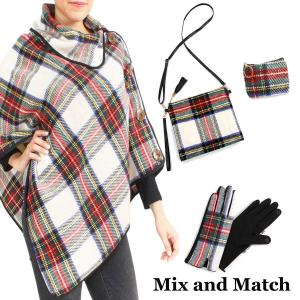 Wholesale Winter Ponchos<br>Button Embellished
