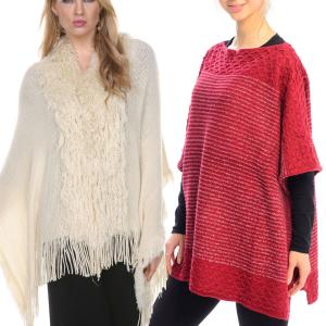Winter Ponchos<br>Square Bottom