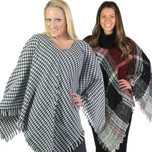 Winter Ponchos<br>Plaids, Checks, & Houndstooth