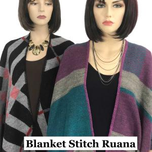 Ruana Capes<br>Blanket Stitch