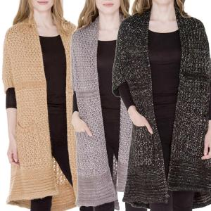 Wholesale Sweater Cardigan<br>Crochet Sparkle<br>JP985
