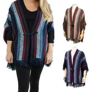Sweater Cardigan<br>Multi Color Tasseled<br>0196
