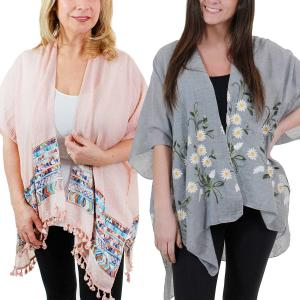 Wholesale Kimono<br>Embroidered<br>1353, 9328, & 9331<br><b><font color = red>NEW COLORS</b></font>