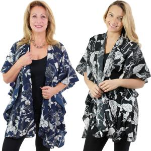 Ruffled Brushed Satin Kimonos