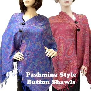 Wholesale Pashmina Style Shawls<br>with Buttons