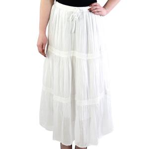 Classic White Skirt<br>Tiered<br>11590