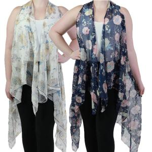 Vests<br>Floral with Textured Foil<br>9701