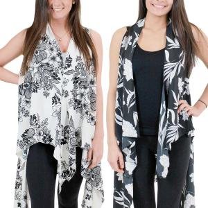 Wholesale Brushed Matte Satin Scarf Vests<br>(Style 2)