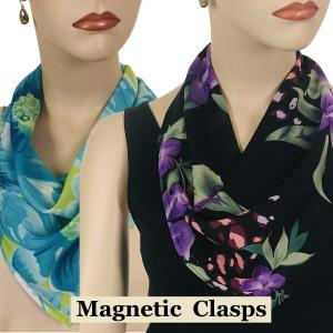 <b>Magnetic Clasp Scarves</b> <br<(Georgette Triangle)<br> Assembled in Massachusetts