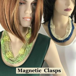 Shanghai Beaded<br>Magnetic Scarf Necklaces<br>(Assembled in Massachusetts)