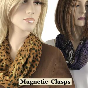 Wholesale <b>Magnetic Clasp Scarves</b><br>(Cotton Touch)<br>Assembled in Massahusetts