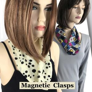 Wholesale <b>Magnetic Clasp Scarves</b><br> (Satin Feel)<br>Assembled in Massachusetts