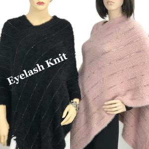 Wholesale Poncho<br>Eyelash Knit<br>9467