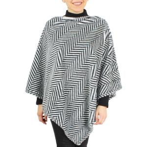 Wholesale Poncho<br>Faux Fur Herringbone<br>9500