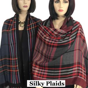 Wholesale Oblong Scarves/Shawls<br>Plaid<br>9525