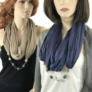 Wholesale Jewelry Infinity Scarves<br>Cotton/Silk Blend<br>100<br><font color = red><b>NEW COLORS</font></b>