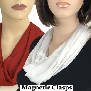 <b>Magnetic Clasp Scarves</b> <br>(Cotton/Silk 100)<br>Assembled in Massachusetts