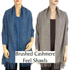 Wholesale Brushed Cashmere Feel Shawls