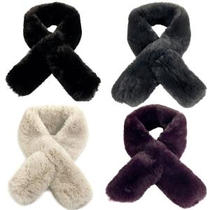 Scarves<br>Faux Rabbit Pull Through