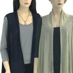 Jersey Knit Vests<br>Solid Color Texture<br>9718